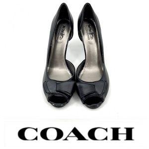 💕SALE💕 Coach Black Peep Toe Heels